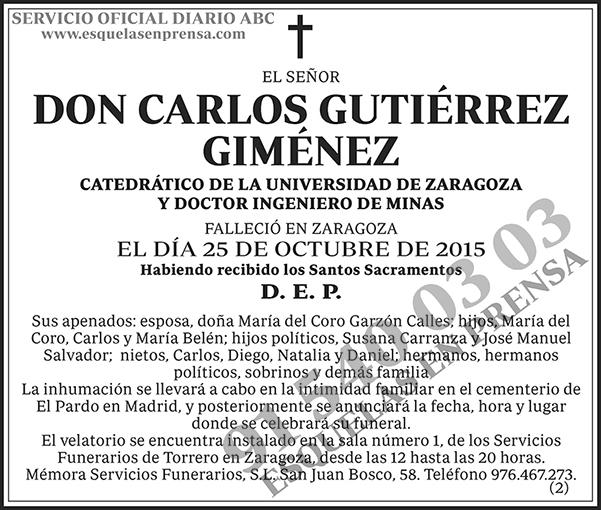 Carlos Gutiérrez Giménez